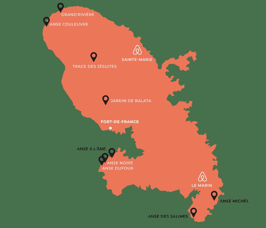 maps martinique - Voyage en Martinique : Itinéraire et conseils
